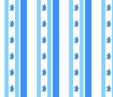 impossible sheep stripe blue fabric by mojiarts on Spoonflower - custom fabric