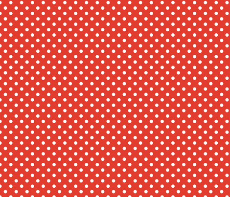 pois_blanc_fond_orange_S fabric by nadja_petremand on Spoonflower - custom fabric