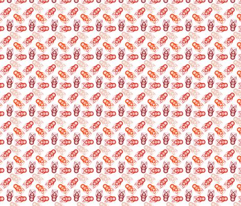 poupée_russe_twist_rouge_fond_blanc_S fabric by nadja_petremand on Spoonflower - custom fabric