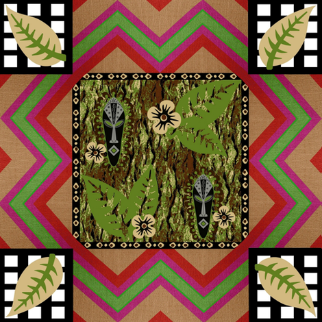 african patch weave fabric by paragonstudios on Spoonflower - custom fabric