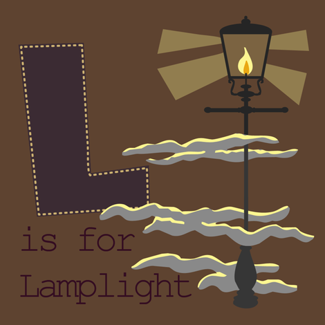 L is for Lamplight fabric by phantomssiren on Spoonflower - custom fabric