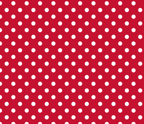 pois_blanc_fond_rouge_M fabric by nadja_petremand on Spoonflower - custom fabric