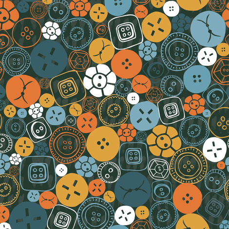 Buttons Galore! fabric by licoricelove on Spoonflower - custom fabric