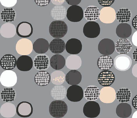 afro circles fabric by katarina on Spoonflower - custom fabric