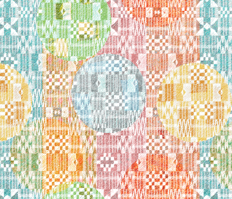 Kente with dots large  fabric by vo_aka_virginiao on Spoonflower - custom fabric