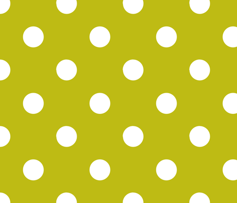 pois_blanc_fond_vert_L fabric by nadja_petremand on Spoonflower - custom fabric