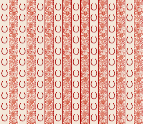 The Red Forest Horse Shoe fabric by ragan on Spoonflower - custom fabric