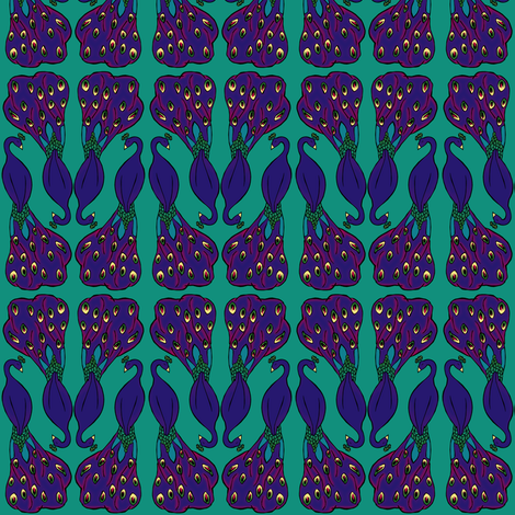 Peacock fabric by pond_ripple on Spoonflower - custom fabric