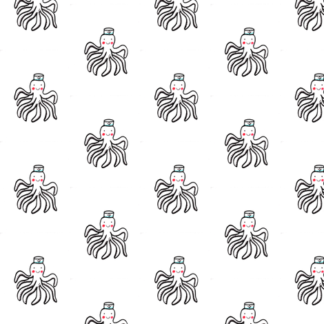 Hello Sailor Octopus fabric by regalcottage on Spoonflower - custom fabric