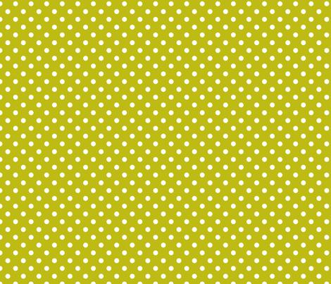 pois_blanc_fond_vert_S fabric by nadja_petremand on Spoonflower - custom fabric