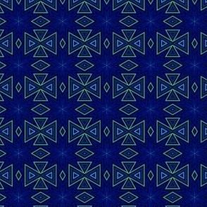 Green geometric on Navy © Gingezel 2014