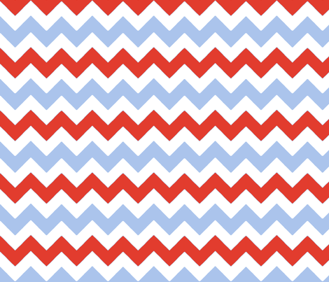 chevron_rouge_bleu_M fabric by nadja_petremand on Spoonflower - custom fabric