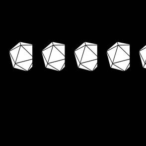 Icosahedron Dice Bag Fabric: White Interior