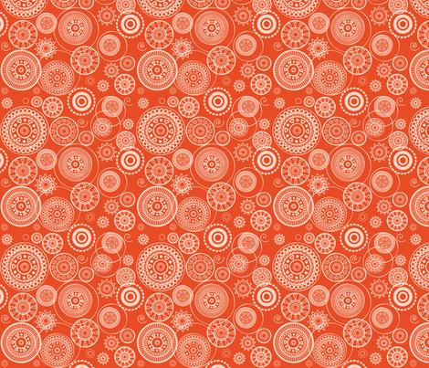 Orange Circles fabric by ebygomm on Spoonflower - custom fabric