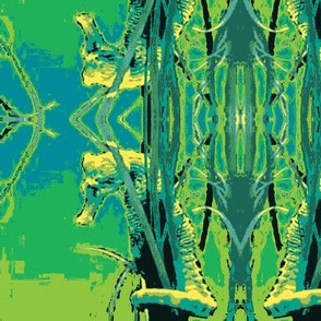 Seahorse4-green/blue
