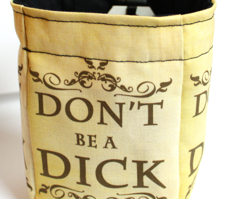 Don't Be a Dick Dice Bag Fabric: Black Interior
