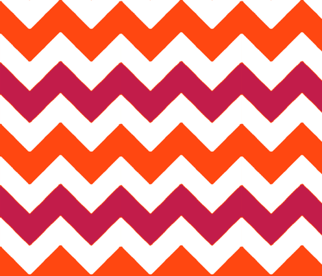chevron_rouge_orange_L fabric by nadja_petremand on Spoonflower - custom fabric