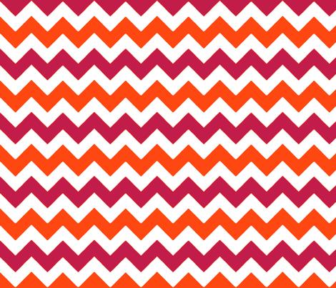 chevron_rouge_orange_M fabric by nadja_petremand on Spoonflower - custom fabric