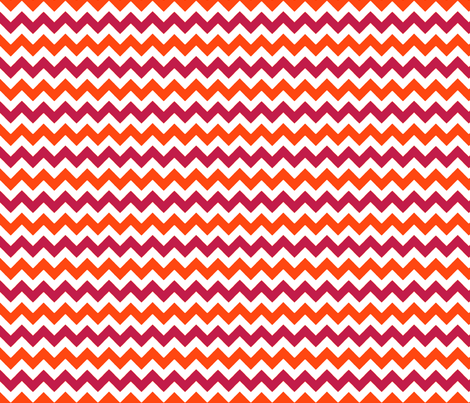 chevron_rouge_orange_S fabric by nadja_petremand on Spoonflower - custom fabric