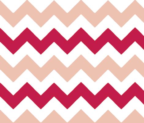 chevron_rose_rouge_L fabric by nadja_petremand on Spoonflower - custom fabric