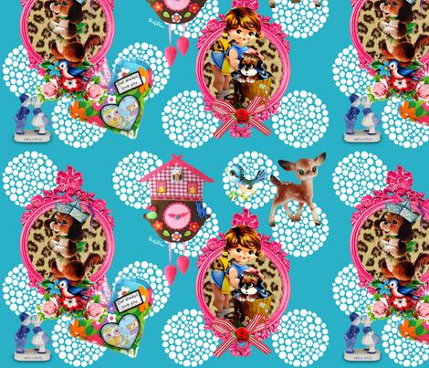 O Deer fabric by birdy_blue's on Spoonflower - custom fabric