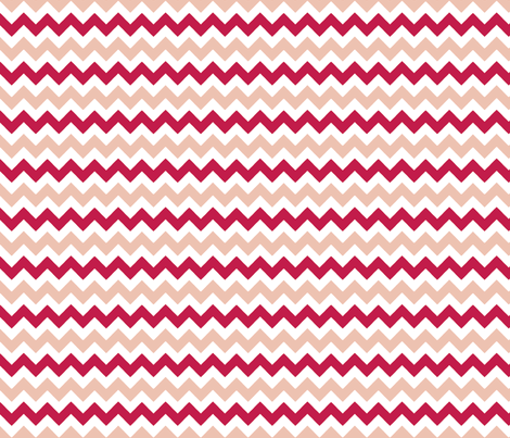 chevron_rose_rouge_S fabric by nadja_petremand on Spoonflower - custom fabric