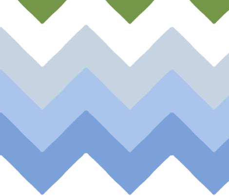 chevron_double_vert__bleu_L fabric by nadja_petremand on Spoonflower - custom fabric