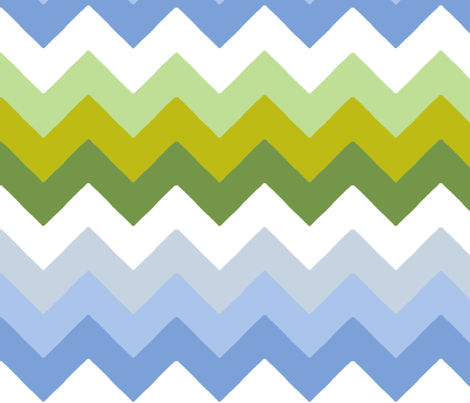 chevron_double_vert__bleu_M fabric by nadja_petremand on Spoonflower - custom fabric