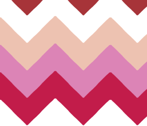 chevron_double_rouge_rose_L fabric by nadja_petremand on Spoonflower - custom fabric