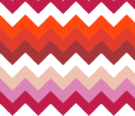 chevron_double_rouge_rose_M fabric by nadja_petremand on Spoonflower - custom fabric