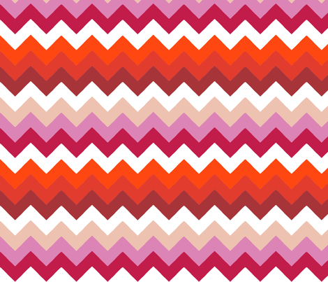 chevron_double_rouge_rose_S fabric by nadja_petremand on Spoonflower - custom fabric