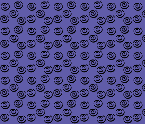 Purple Swirl Companion Fabric fabric by aftermyart on Spoonflower - custom fabric