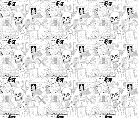 Literary figures fabric by raccoonhedgehog on Spoonflower - custom fabric