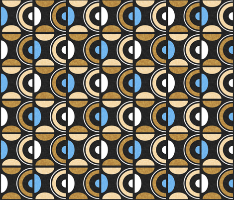 Ethnocentric with blue fabric by su_g on Spoonflower - custom fabric