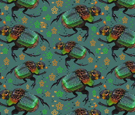 Beetle Beetles (from my photo) fabric by eclectic_house on Spoonflower - custom fabric