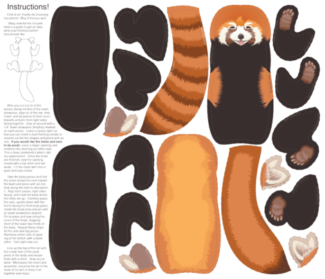 Red Panda Pillow fabric by cola82 on Spoonflower - custom fabric