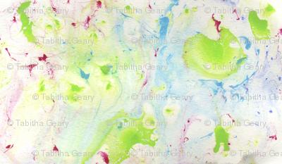 Bella's spring marbled paper