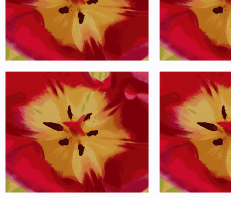 Big Red Tulip embroidery panels fabric by fryedesign on Spoonflower - custom fabric