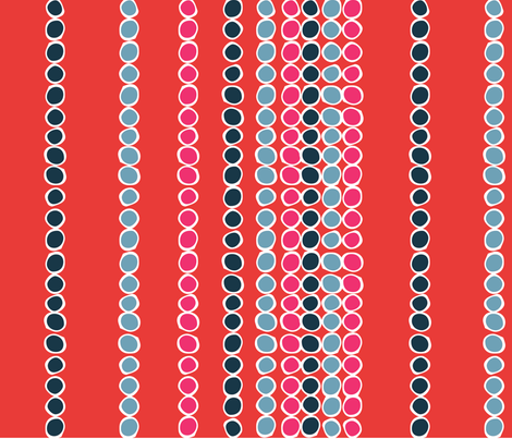 American Sari Dots Red fabric by hazelrose on Spoonflower - custom fabric
