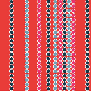 American Sari Dots Red