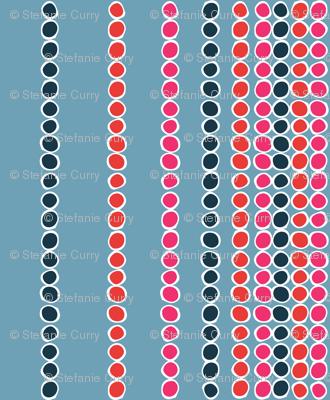 American Sari Dots Blue