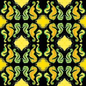 Seahorse13-green/black