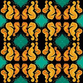 Seahorse13-orange/black