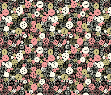 Buttons Galore! 2 fabric by licoricelove on Spoonflower - custom fabric