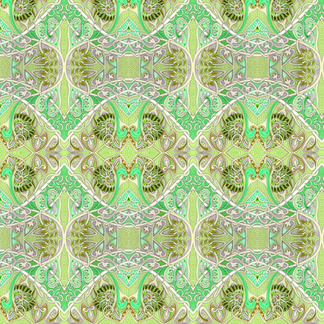 Sipping Mint Juleps on the Veranda in June fabric by edsel2084 on Spoonflower - custom fabric