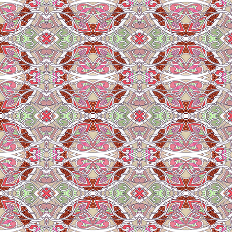 The Tangled Path of Spade Flowers fabric by edsel2084 on Spoonflower - custom fabric