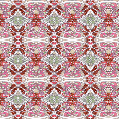 At Her Majesty's Scallop and Bud Request fabric by edsel2084 on Spoonflower - custom fabric