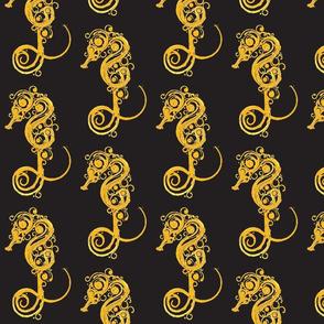Seahorse7-black/orange