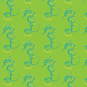 Seahorse7-green/teal