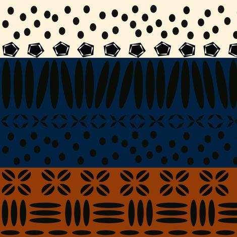 Kenya Star Earthy Stripe fabric by sheila_marie_delgado on Spoonflower - custom fabric